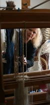 Sue Hiley Harris at her loom